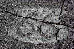 Route 66 Schild op Asfalt stock afbeelding