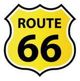 Route 66 Shield shaped Sign. Vector Illustration Stock Images