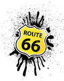 Route 66 Shield shaped Sign. Vector Illustration Royalty Free Stock Photo