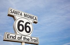 Route 66 sign in Santa Monica California Stock Images