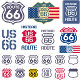 Route 66 sign set Stock Photography