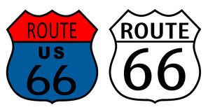 Route 66 signs Royalty Free Stock Images