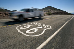 Route 66 speeding Royalty Free Stock Photos