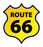 Route 66 Teken Stock Foto