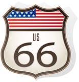 Route 66 teken Royalty-vrije Stock Afbeeldingen