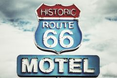 Route 66 USA Royaltyfria Bilder