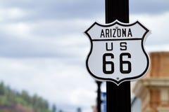 Route 66 van Arizona stock afbeelding