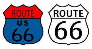 Route 66 vectortekens Royalty-vrije Stock Afbeeldingen