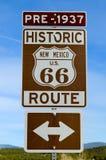 Route 66 verkeersteken royalty-vrije stock fotografie