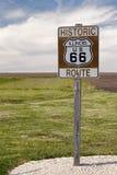 Route 66 Verkeersteken Royalty-vrije Stock Foto