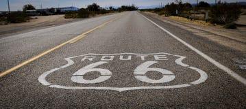 Route 66 wegaf:drukken Stock Fotografie