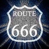 Route 666 Royalty-vrije Stock Foto's