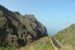 Route aan het pirattedorp, Masca, Tenerife, Spanje Royalty-vrije Stock Fotografie