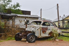 Route66. An abandoned car on the side of the old Route 66, the Mother Road, in Arizona Royalty Free Stock Photography
