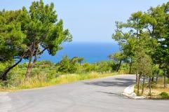 Route abandonnée Images libres de droits