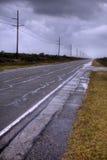 route abandonnée Images stock