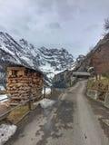 Route abandonnée de montagne Image stock
