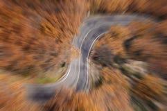 Route abstraite de montagne de vue Photographie stock