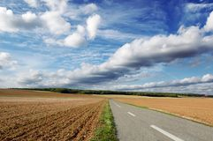 route agricole photographie stock