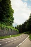 route alpestre Image stock