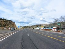 The route 66 in Arizona. USA. Spring 2015 stock image