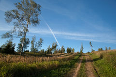 Route ascendante Photos libres de droits