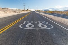 Route 66 asphalt road in united states of america royalty free stock images