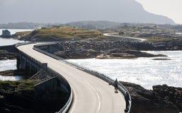 route atlantique de la Norvège Photos libres de droits
