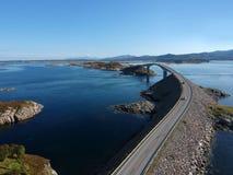 Route atlantique en Norvège, l'Europe Photo libre de droits