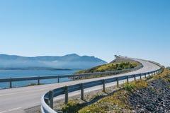Route atlantique en Norvège Images libres de droits