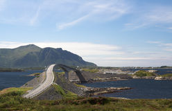 Route atlantique, Norvège Photo libre de droits