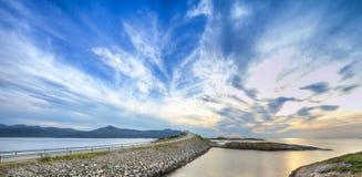 Route atlantique, Norvège Images libres de droits
