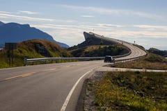 Route atlantique près de Molde en Norvège du sud Image stock