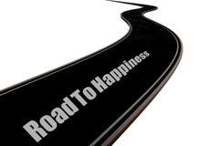 Route au bonheur Images libres de droits