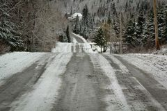 Route au Canada Photo stock