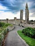 Route au château de Saint Andrews, Angleterre Photographie stock