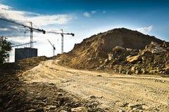 Route au chantier de construction photographie stock libre de droits