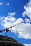 Route au chantier de construction photographie stock