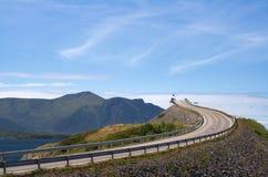 Route au ciel Image libre de droits