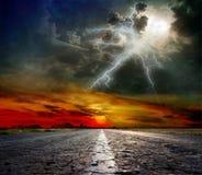 Route au ciel Photographie stock libre de droits
