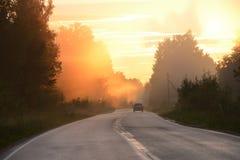 Route au ciel d'enfer ? photos stock