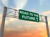 Route au contrat à terme Image libre de droits