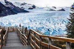 Route au glacier Photographie stock libre de droits