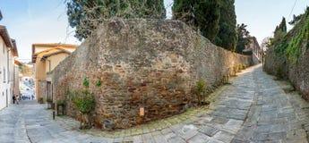 Route au monastère en colline de Fiesole à Firenze, Italie Image stock
