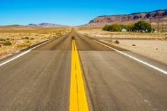 Route au Nevada, Etats-Unis Image libre de droits