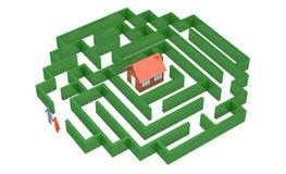 Route au posséder la maison illustration libre de droits