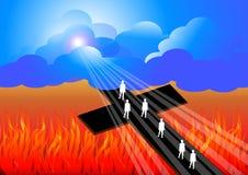 Route au salut Photos libres de droits