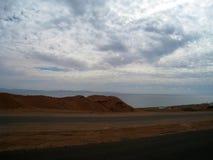 Route au Sharm el Sheikh, Egypte, Sinai du sud photographie stock