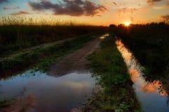 Route au soleil Images stock