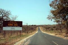 Route au stationnement de Kruger photo stock
